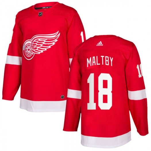 Kirk Maltby Detroit Red Wings Youth Adidas Authentic Red Home Jersey
