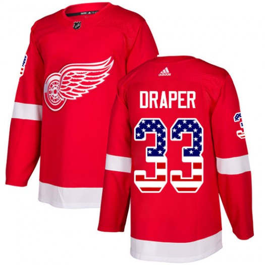 Kris Draper Detroit Red Wings Men's Adidas Authentic Red USA Flag Fashion Jersey