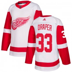 Kris Draper Detroit Red Wings Men's Adidas Authentic White Jersey