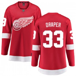 Kris Draper Detroit Red Wings Women's Fanatics Branded Red Home Breakaway Jersey