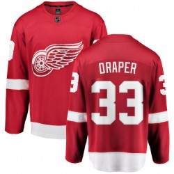Kris Draper Detroit Red Wings Youth Fanatics Branded Red Home Breakaway Jersey