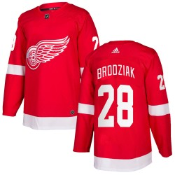 Kyle Brodziak Detroit Red Wings Men's Adidas Authentic Red ized Home Jersey