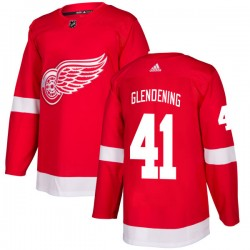 Luke Glendening Detroit Red Wings Men's Adidas Authentic Red Jersey