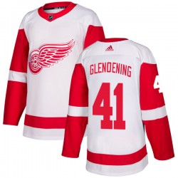 Luke Glendening Detroit Red Wings Men's Adidas Authentic White Jersey