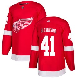 Luke Glendening Detroit Red Wings Youth Adidas Authentic Red Home Jersey