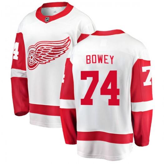 Madison Bowey Detroit Red Wings Men's Fanatics Branded White Breakaway Away Jersey