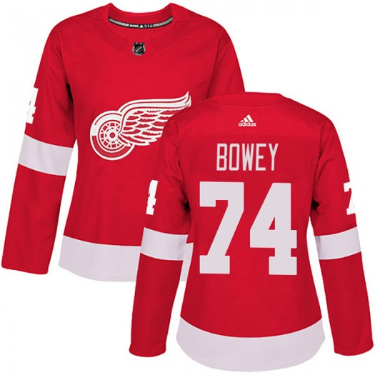 Madison Bowey Detroit Red Wings Women's Adidas Authentic Red Home Jersey