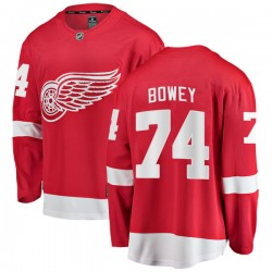 Madison Bowey Detroit Red Wings Youth Fanatics Branded Red Breakaway Home Jersey
