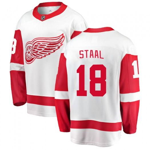 Marc Staal Detroit Red Wings Youth Fanatics Branded White Breakaway Away Jersey