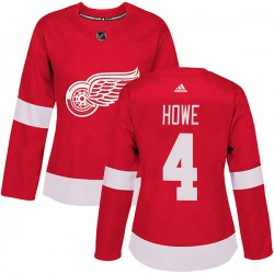 Mark Howe Detroit Red Wings Women's Adidas Authentic Red Home Jersey
