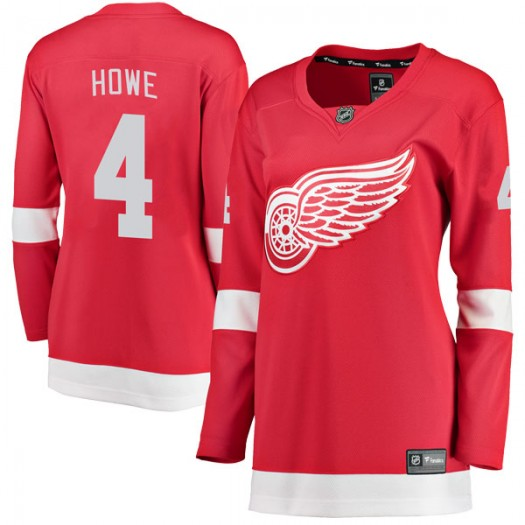 Mark Howe Detroit Red Wings Women's Fanatics Branded Red Breakaway Home Jersey