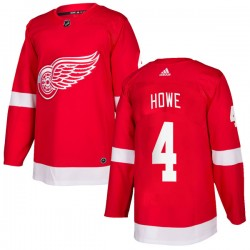 Mark Howe Detroit Red Wings Youth Adidas Authentic Red Home Jersey