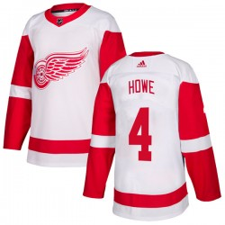 Mark Howe Detroit Red Wings Youth Adidas Authentic White Jersey