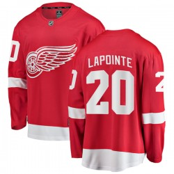 Martin Lapointe Detroit Red Wings Men's Fanatics Branded Red Breakaway Home Jersey
