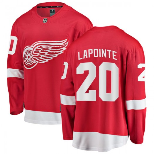 Martin Lapointe Detroit Red Wings Youth Fanatics Branded Red Breakaway Home Jersey