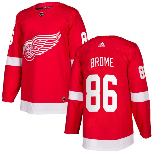 Mathias Brome Detroit Red Wings Men's Adidas Authentic Red Home Jersey