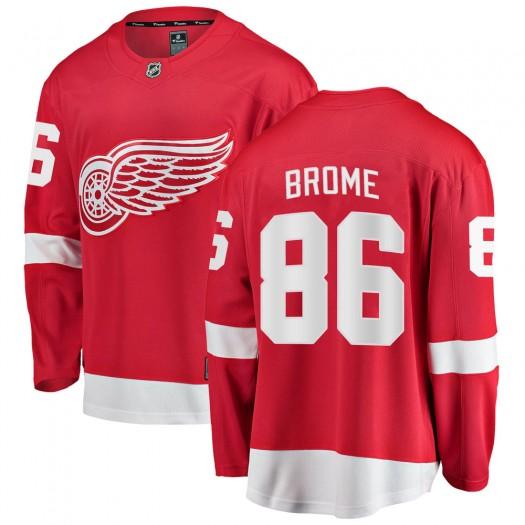 Mathias Brome Detroit Red Wings Men's Fanatics Branded Red Breakaway Home Jersey