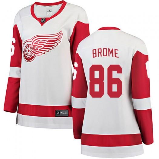 Mathias Brome Detroit Red Wings Women's Fanatics Branded White Breakaway Away Jersey