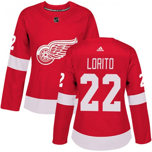 Matthew Lorito Detroit Red Wings Women's Adidas Authentic Red Home Jersey