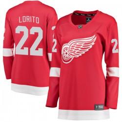 Matthew Lorito Detroit Red Wings Women's Fanatics Branded Red Breakaway Home Jersey
