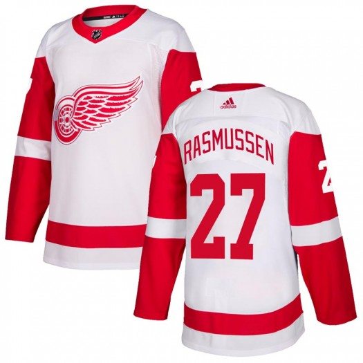 Michael Rasmussen Detroit Red Wings Men's Adidas Authentic White Jersey