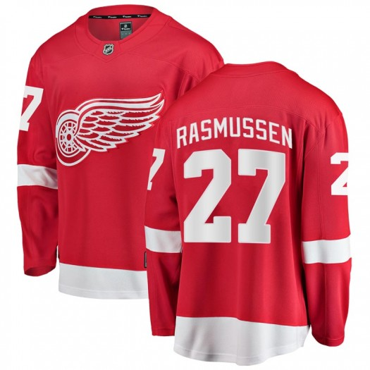 Michael Rasmussen Detroit Red Wings Men's Fanatics Branded Red Breakaway Home Jersey