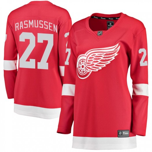 Michael Rasmussen Detroit Red Wings Women's Fanatics Branded Red Breakaway Home Jersey