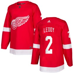 Nick Leddy Detroit Red Wings Men's Adidas Authentic Red Home Jersey