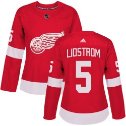 Nicklas Lidstrom Detroit Red Wings Women's Adidas Authentic Red Home Jersey