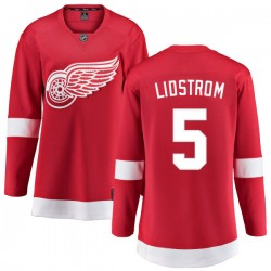 Nicklas Lidstrom Detroit Red Wings Women's Fanatics Branded Red Home Breakaway Jersey