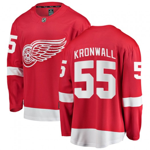 Niklas Kronwall Detroit Red Wings Youth Fanatics Branded Red Breakaway Home Jersey