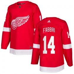 Robby Fabbri Detroit Red Wings Youth Adidas Authentic Red Home Jersey