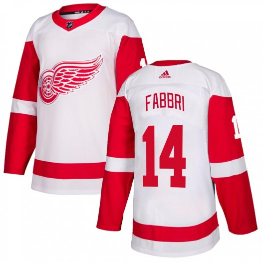 Robby Fabbri Detroit Red Wings Youth Adidas Authentic White Jersey