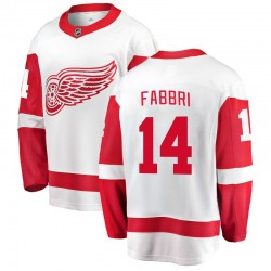 Robby Fabbri Detroit Red Wings Youth Fanatics Branded White Breakaway Away Jersey
