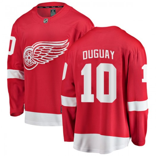 Ron Duguay Detroit Red Wings Youth Fanatics Branded Red Breakaway Home Jersey