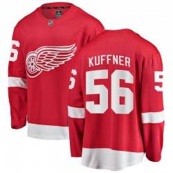 Ryan Kuffner Detroit Red Wings Men's Fanatics Branded Red Breakaway Home Jersey