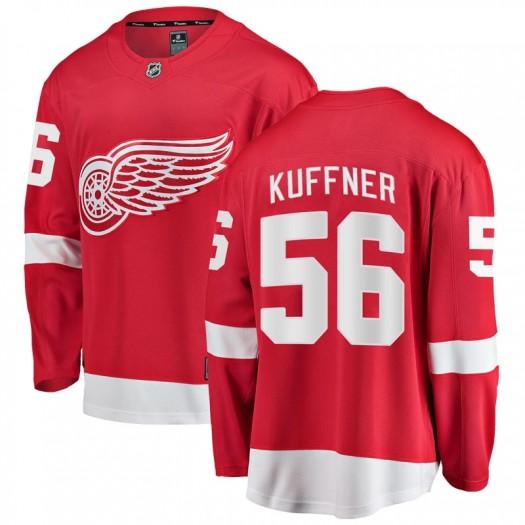 Ryan Kuffner Detroit Red Wings Men's Fanatics Branded Red Breakaway Home Jersey