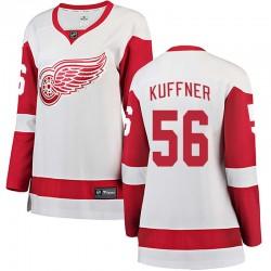 Ryan Kuffner Detroit Red Wings Women's Fanatics Branded White Breakaway Away Jersey