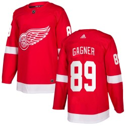 Sam Gagner Detroit Red Wings Men's Adidas Authentic Red ized Home Jersey