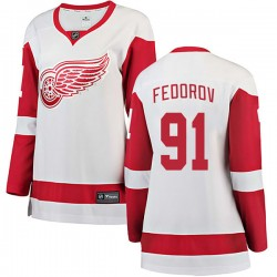 Sergei Fedorov Detroit Red Wings Women's Fanatics Branded White Breakaway Away Jersey