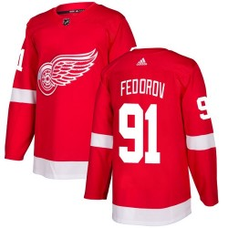 Sergei Fedorov Detroit Red Wings Youth Adidas Authentic Red Home Jersey