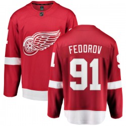 Sergei Fedorov Detroit Red Wings Youth Fanatics Branded Red Home Breakaway Jersey