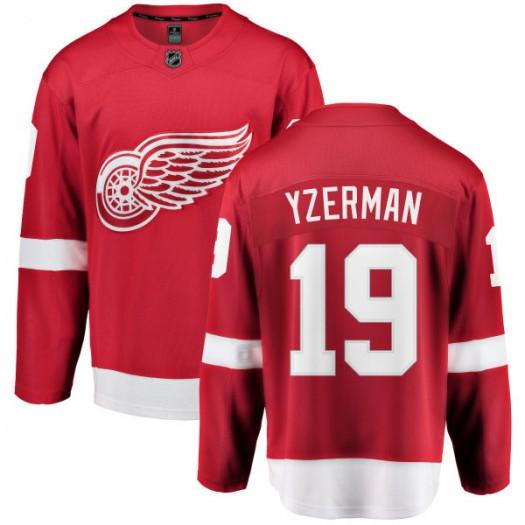 Steve Yzerman Detroit Red Wings Youth Fanatics Branded Red Home Breakaway Jersey