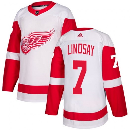 Ted Lindsay Detroit Red Wings Youth Adidas Authentic White Away Jersey