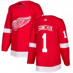 Terry Sawchuk Detroit Red Wings Men's Adidas Authentic Red Jersey