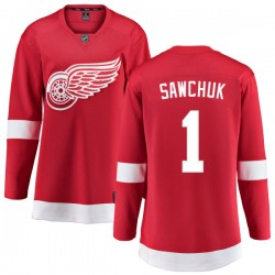 Terry Sawchuk Detroit Red Wings Women's Fanatics Branded Red Home Breakaway Jersey