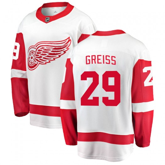 Thomas Greiss Detroit Red Wings Youth Fanatics Branded White Breakaway Away Jersey