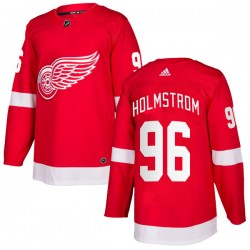 Tomas Holmstrom Detroit Red Wings Men's Adidas Authentic Red Home Jersey