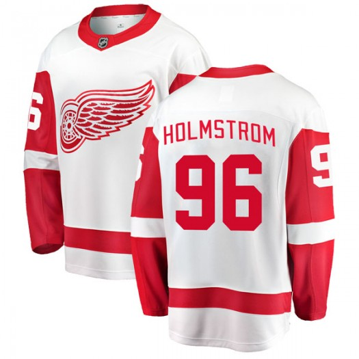 Tomas Holmstrom Detroit Red Wings Men's Fanatics Branded White Breakaway Away Jersey