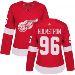 Tomas Holmstrom Detroit Red Wings Women's Adidas Authentic Red Home Jersey